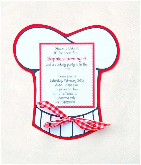 Cooking Party Invitations Printastic Party Games What S Cooking or Baking Doc