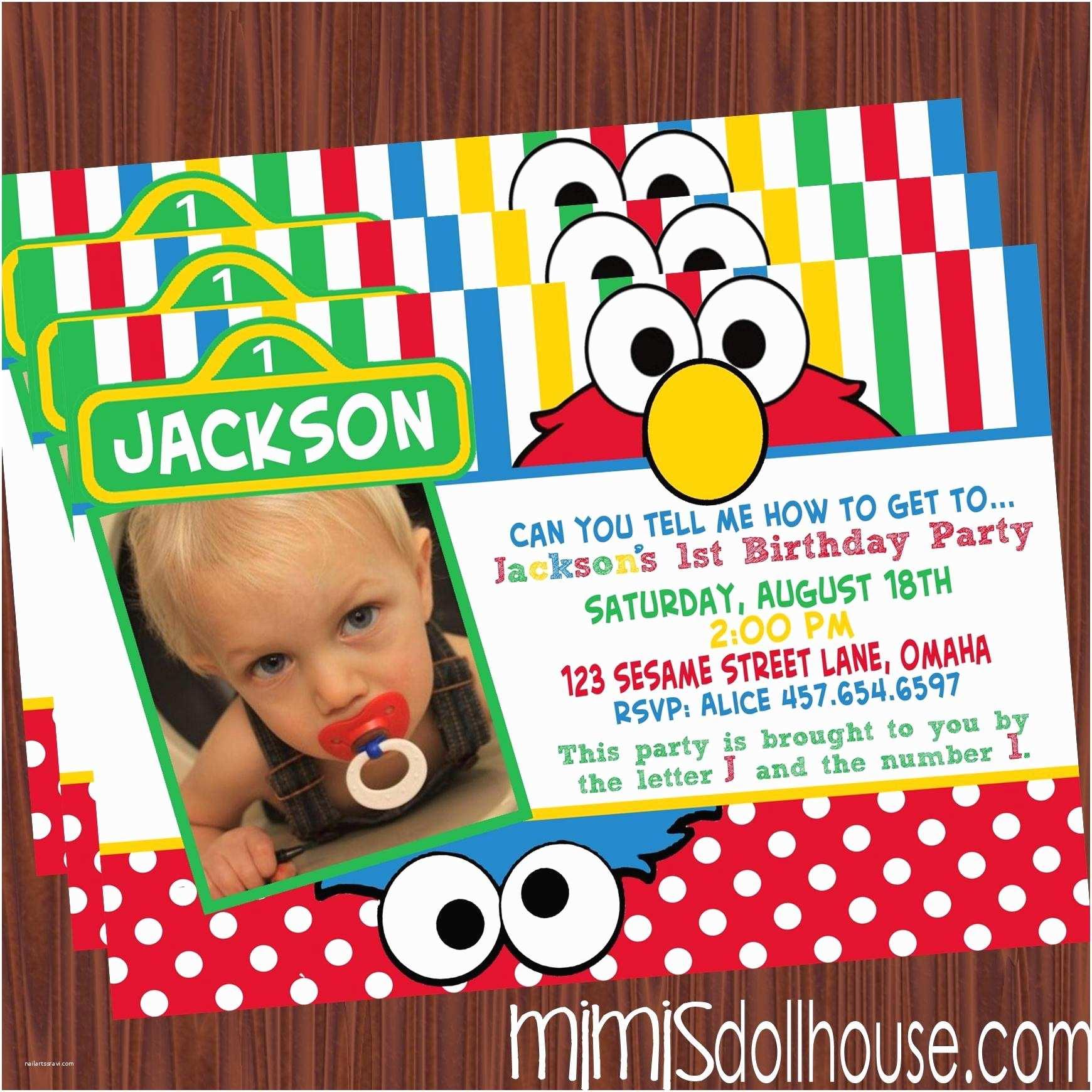 Cool Birthday Invitations 14 Cool Elmo Birthday Invitations Template