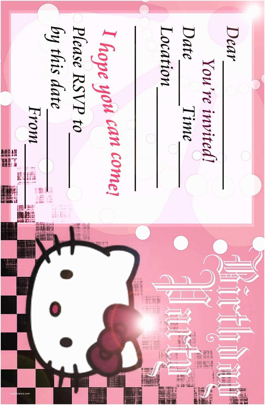 Cool Party  2 Fabulous Free Hello Kitty Birthday