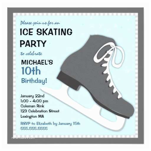 Cool Party Invitations Cool Dudes Ice Skating Birthday Party Invitation