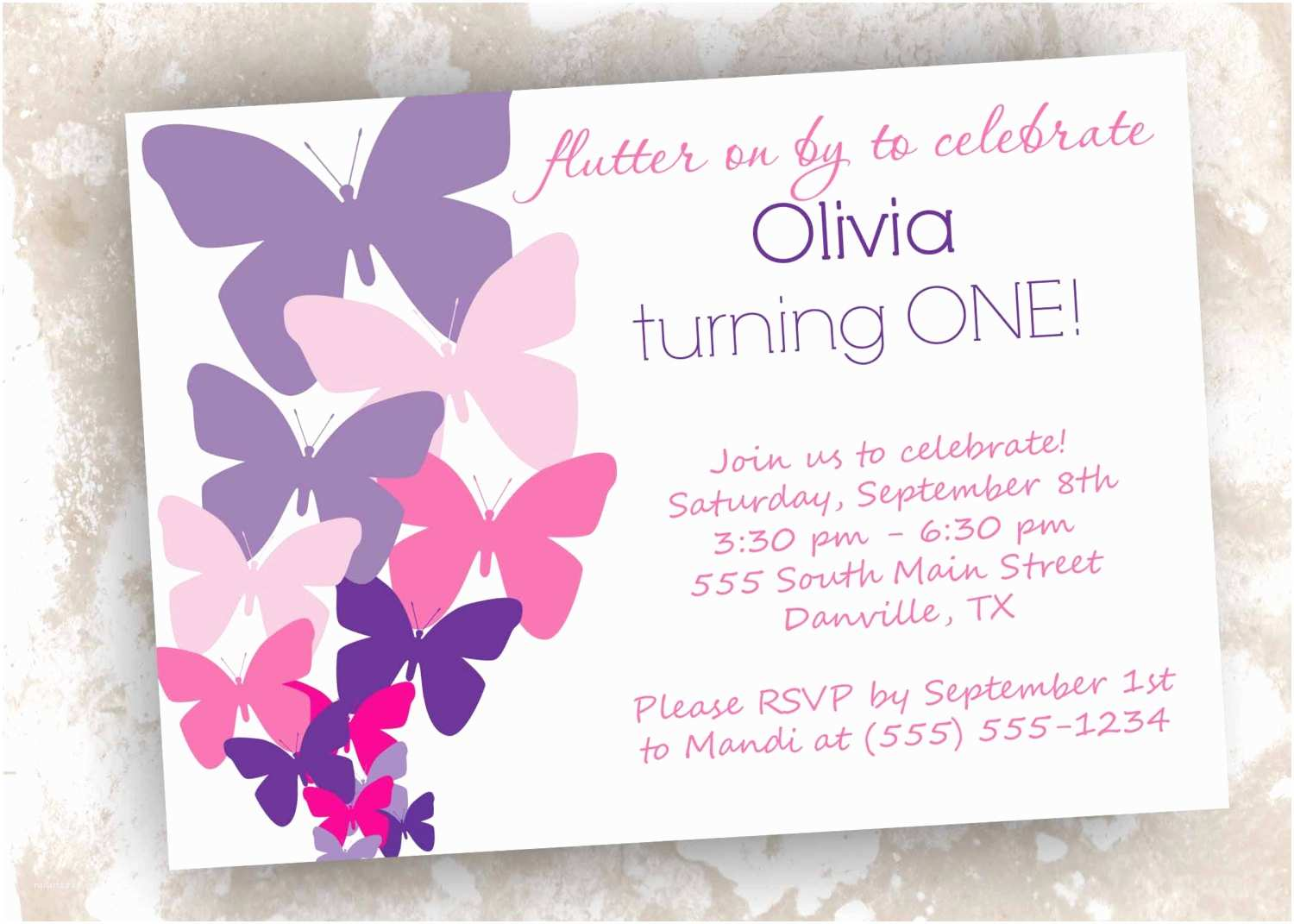 Party Invitations Marvelous Butterfly Birthday Invitations Template All