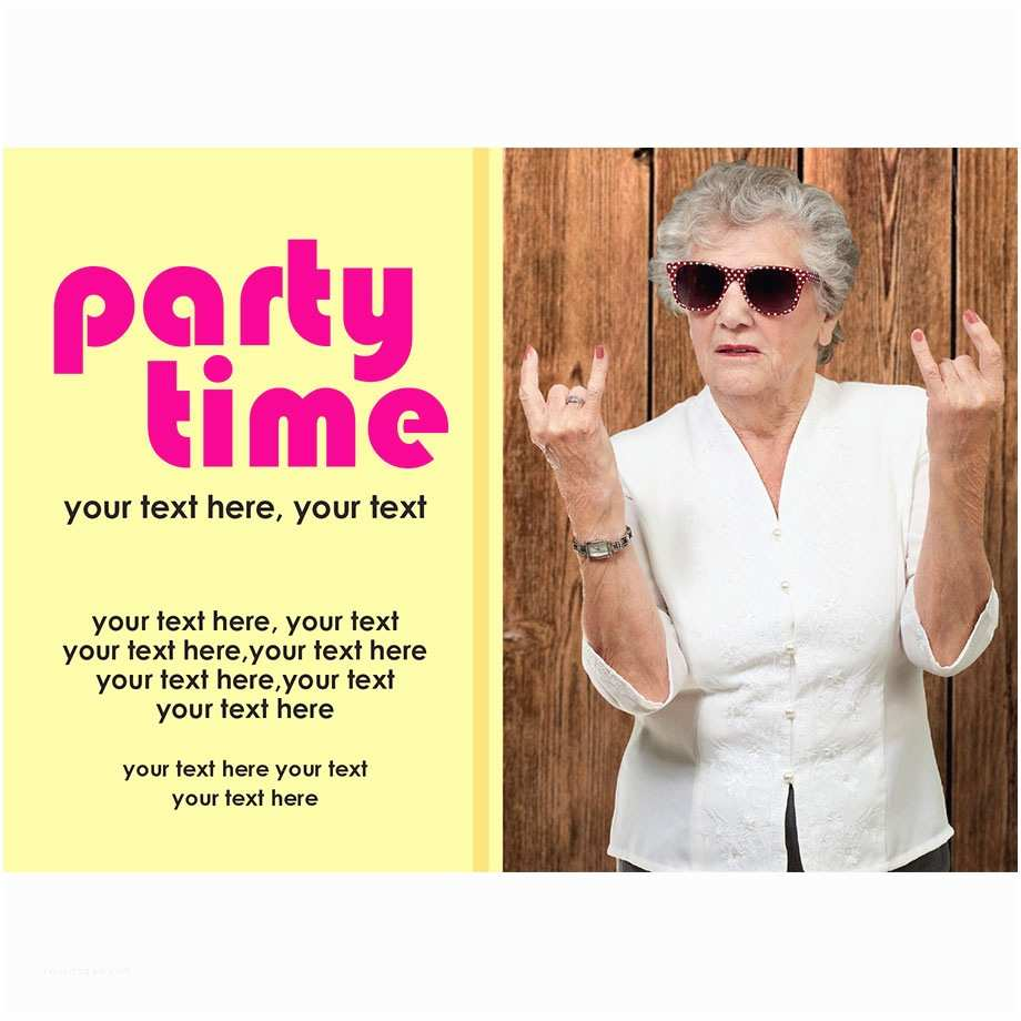 Cool Party Invitations Super Cool Rock On Lady Party Invitation Buzz