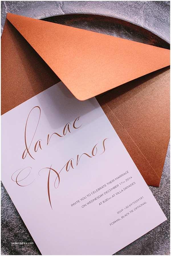 Copper Wedding Invitations Beautiful Copper Wedding Ideas Chic & Stylish Weddings