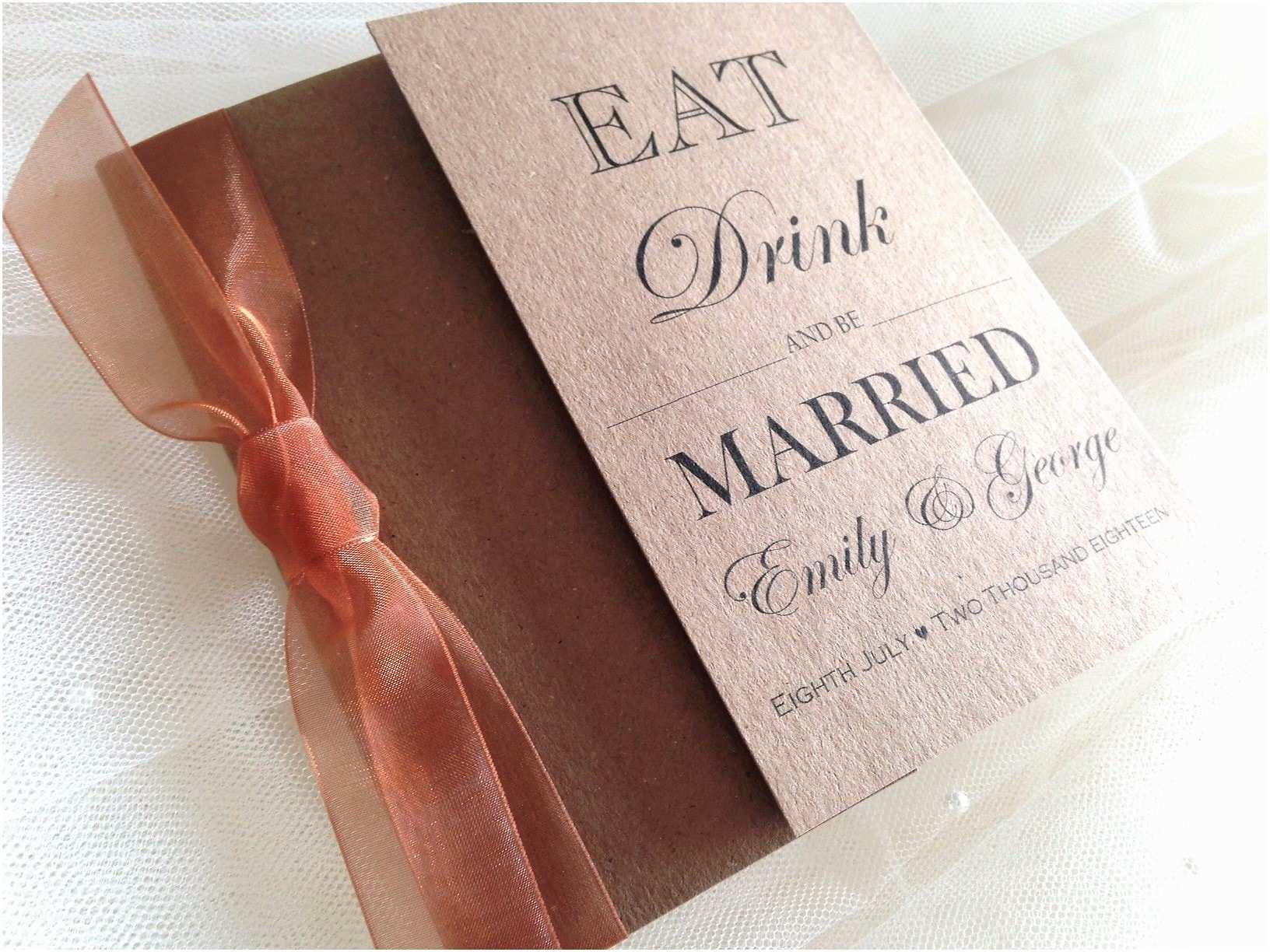 Copper Wedding Invitations Copper Wedding Invitations