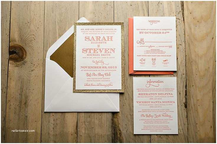 Coral and Gold Wedding Invitations 17 Best Ideas About Coral Wedding Invitations On Pinterest