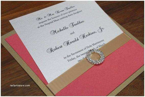 Coral and Gold Wedding Invitations 2014 Hot Wedding Color Palette Trend Coral and Gold