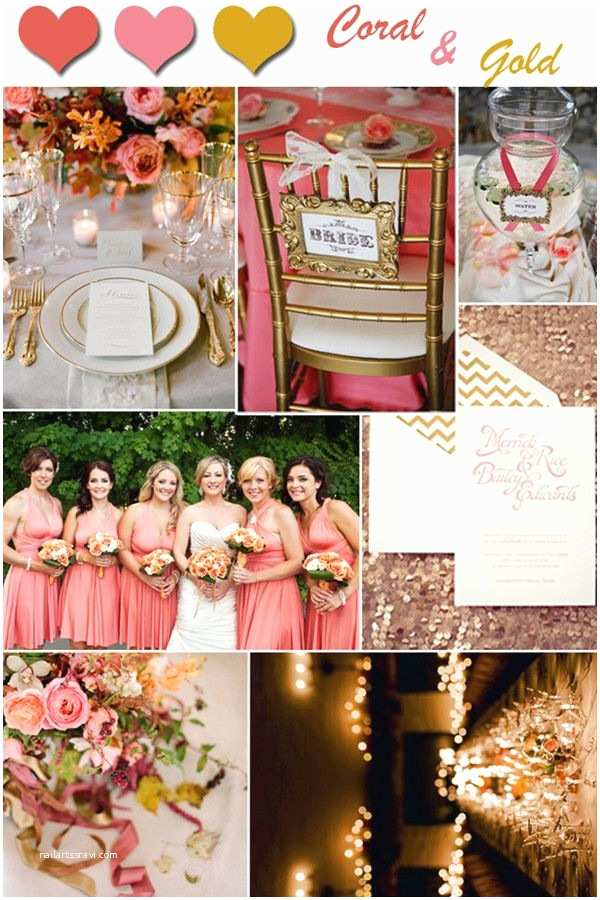 Coral and Gold Wedding Invitations 2014 Wedding Color Trends Coral Wedding Ideas and