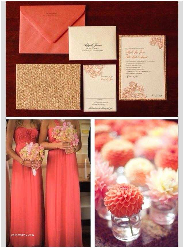 Coral and Gold Wedding Invitations Coral Wedding Coral Wedding Weddbook