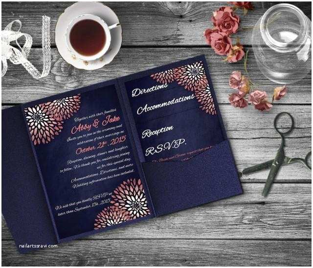 Coral and Navy Wedding Invitations Coral Navy Wedding Invitation Template Invitation Suite