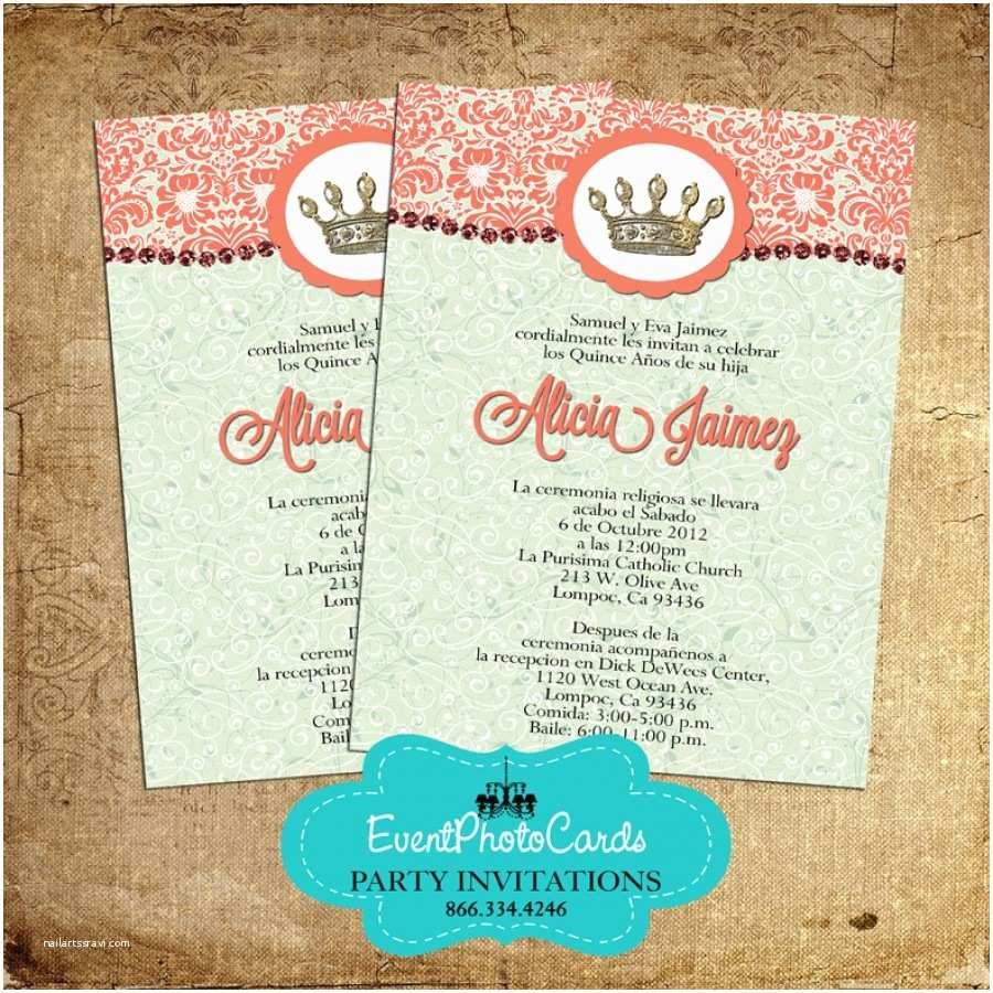 Coral Quinceanera Invitations Coral Quinceanera Invitations – Gangcraft
