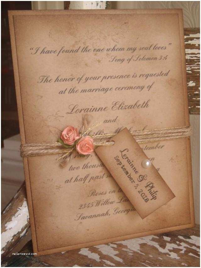 Coral Quinceanera Invitations Coral Rustic Vintage Woodland Kraft Wedding Invitation