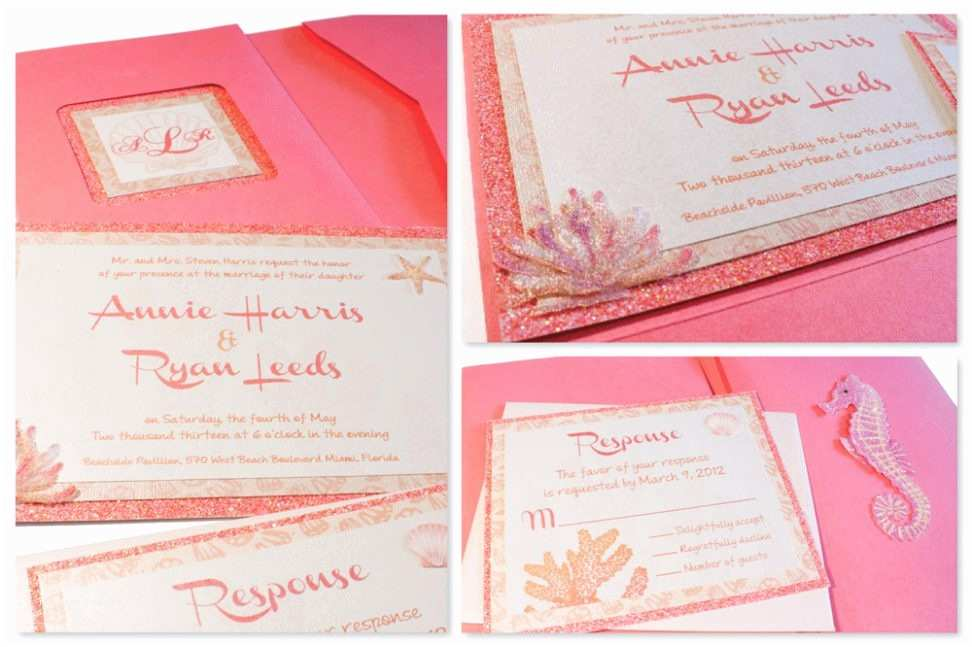 Coral Quinceanera Invitations Graduation Invitation Coral Quinceanera Invitations
