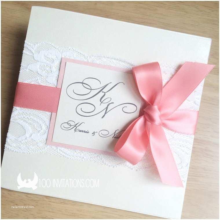 Coral Wedding Invitations Lace Wedding Invitations Free Shipping