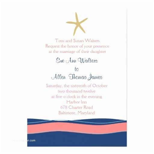 Coral Wedding Invitations Navy and Coral Wedding Invitations 279 Navy and Coral