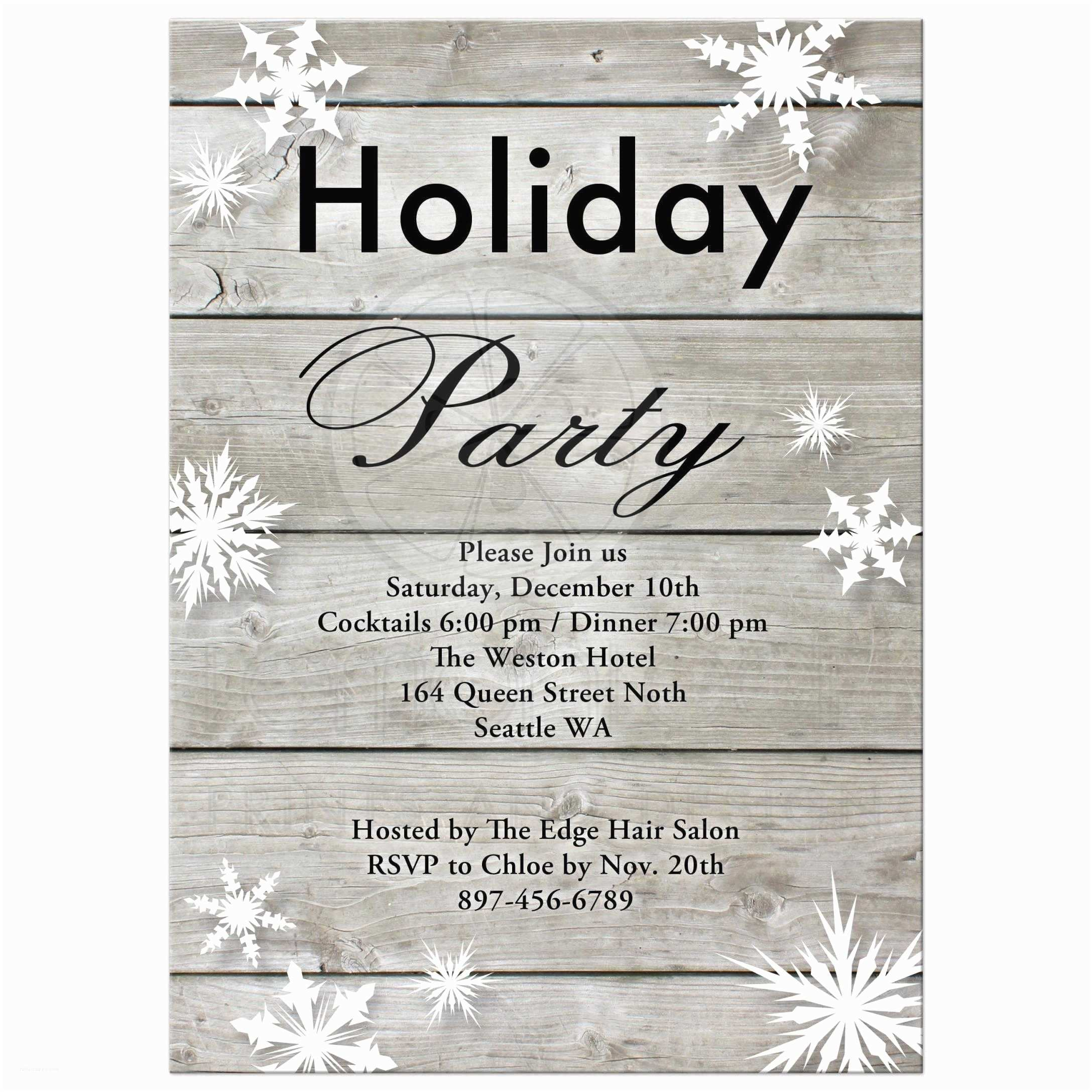 Corporate Holiday Party Invitations Corporate Holiday Party Invitation On Barn
