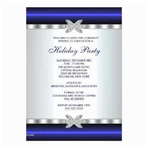 """Corporate Holiday Party Invitations Corporate Holiday Party Invitations Blue Event 5"""" X"""