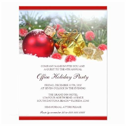 Corporate Holiday Party Invitations Festive Corporate Holiday Party Invitation