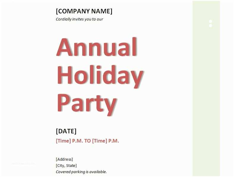 Corporate Holiday Party Invitations Invitation