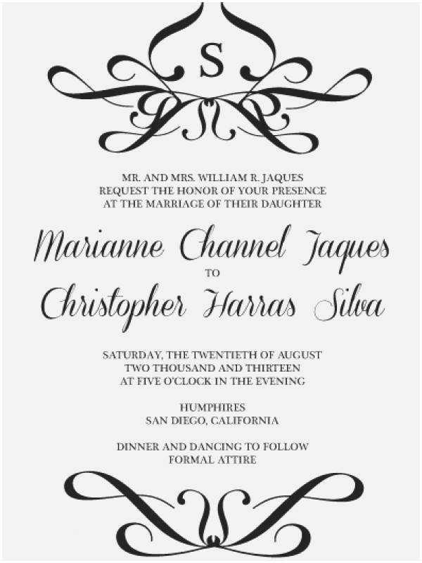 Correct Wording for Wedding Invitations Proper Wedding Invitation Etiquette