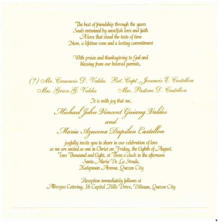 Correct Wording for Wedding Invitations Proper Wording for Wedding Invitation