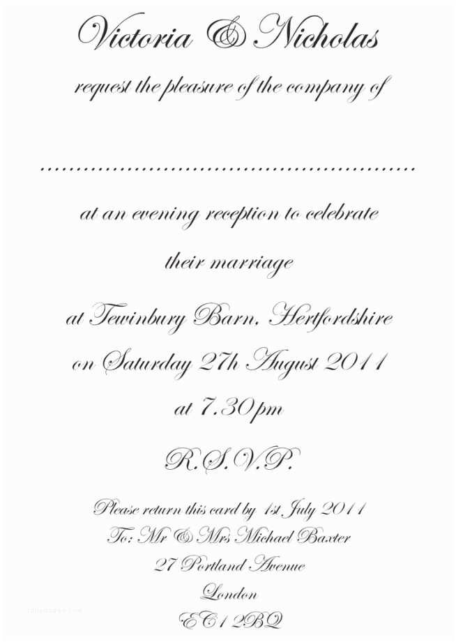 Correct Wording for Wedding Invitations Wedding Invitation Templates Proper Wedding Invitation