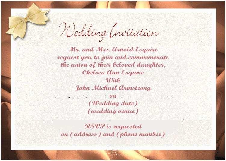 Correct Wording for Wedding Invitations Wedding Invitation Wording Etiquette Wedding Invitation