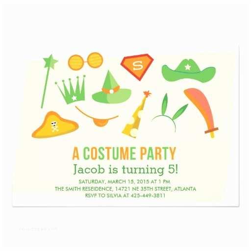 Costume Birthday Party Invitations A Costume Party Boys Birthday Party Invitation