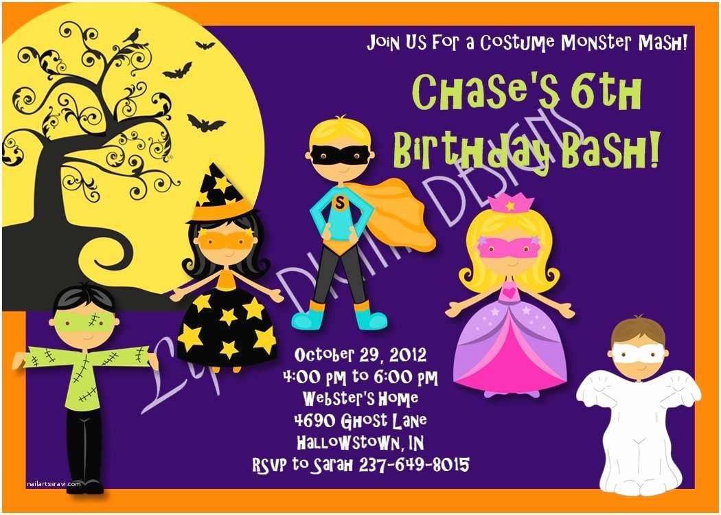 Costume Birthday Party Invitations Costume Birthday Party Invitation Wording