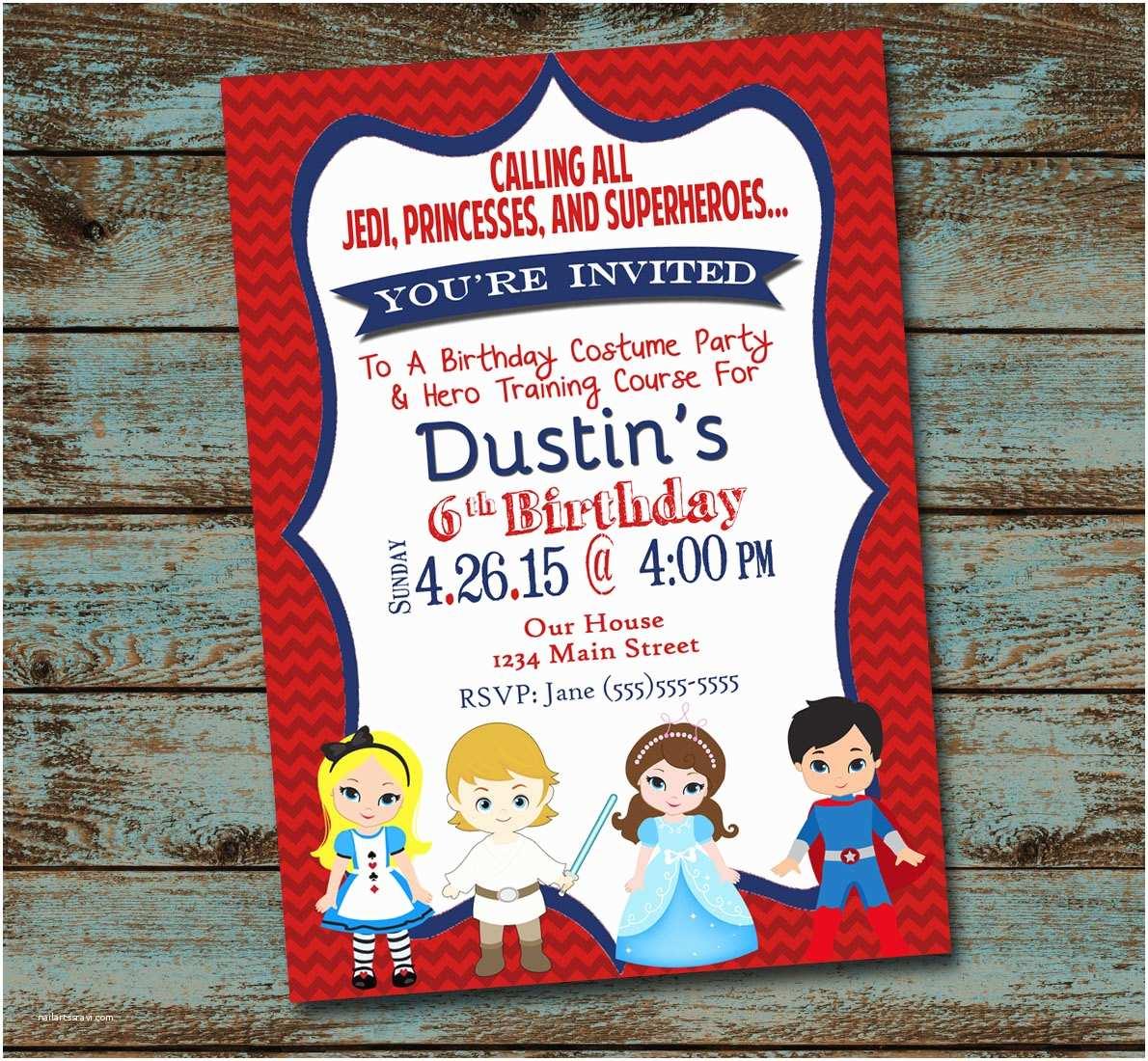 Costume Birthday Party Invitations Costume Party Invitation Costume Birthday by