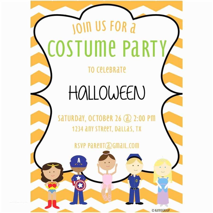 Costume Birthday Party Invitations Costume Party Invitation