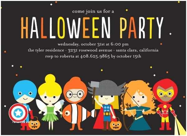 Costume Birthday Party Invitations Fun Halloween Party Invitations