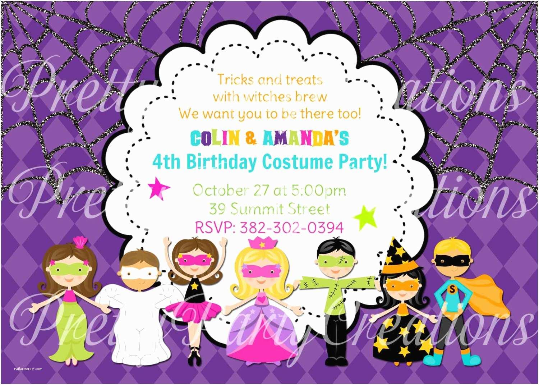 Costume Birthday Party Invitations Halloween Costume Kids Party Invitation You Print 3 to