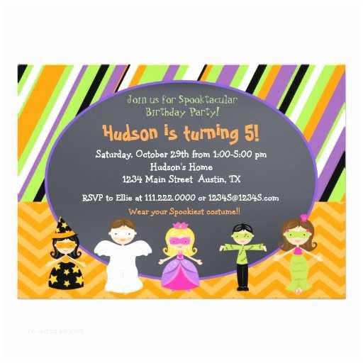 Costume Birthday Party Invitations Halloween Costume Party Invitations