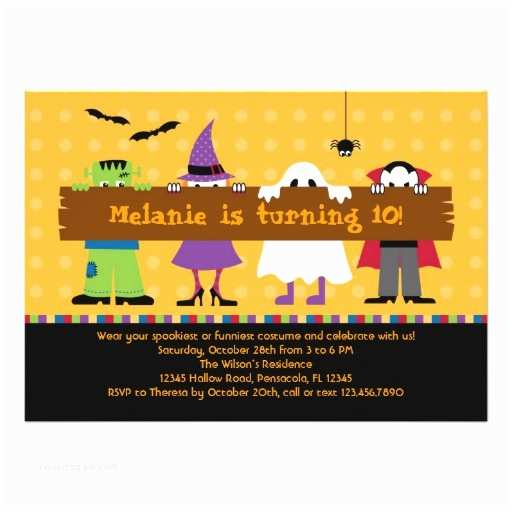 Costume Birthday Party Invitations Halloween Parade Costume Birthday Party Invitation