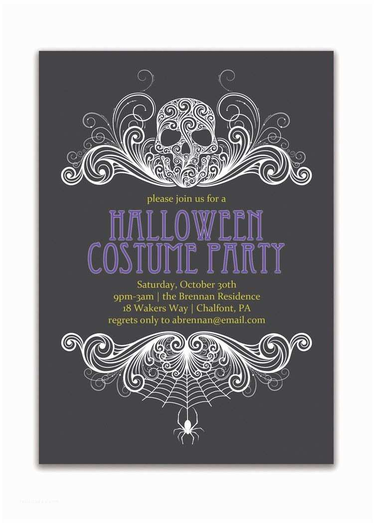 Costume Birthday Party Invitations Halloween Party Invitation Adult Costume by