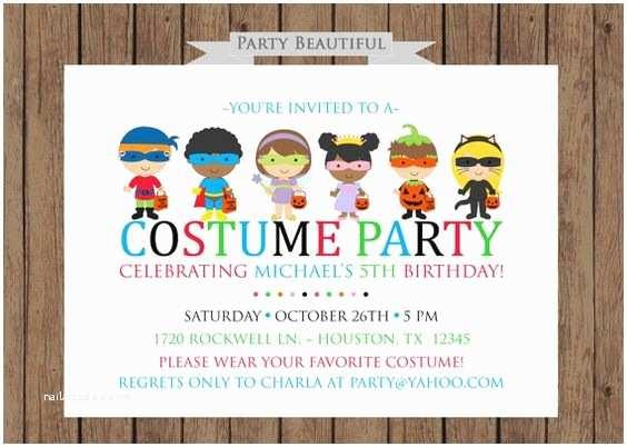 Costume Birthday Party Invitations Pinterest • the World's Catalog Of Ideas