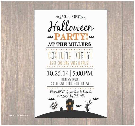 Costume Birthday Party Invitations Printable Halloween Invitation Diy Halloween Costume