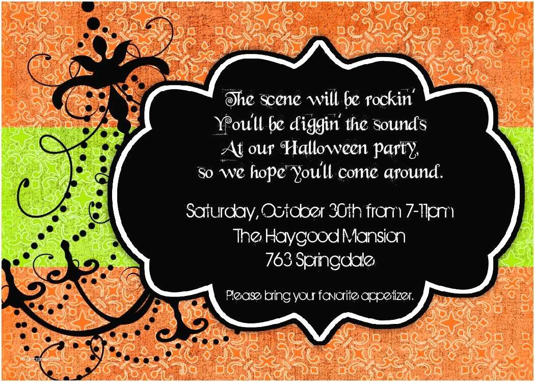 Costume Party Invitation Wording Bear River Greetings Halloween Party