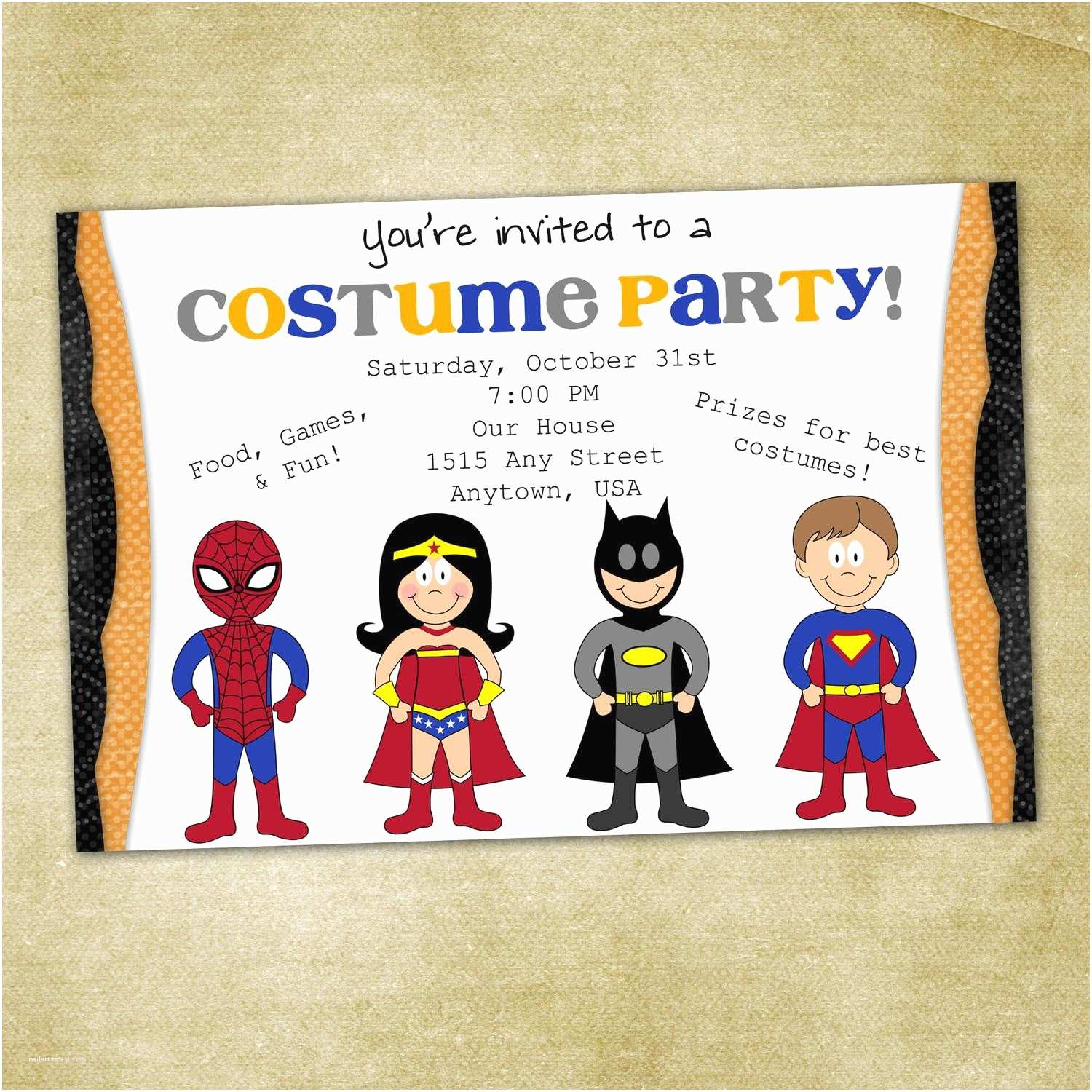Costume Party Invitation Wording Costume Party