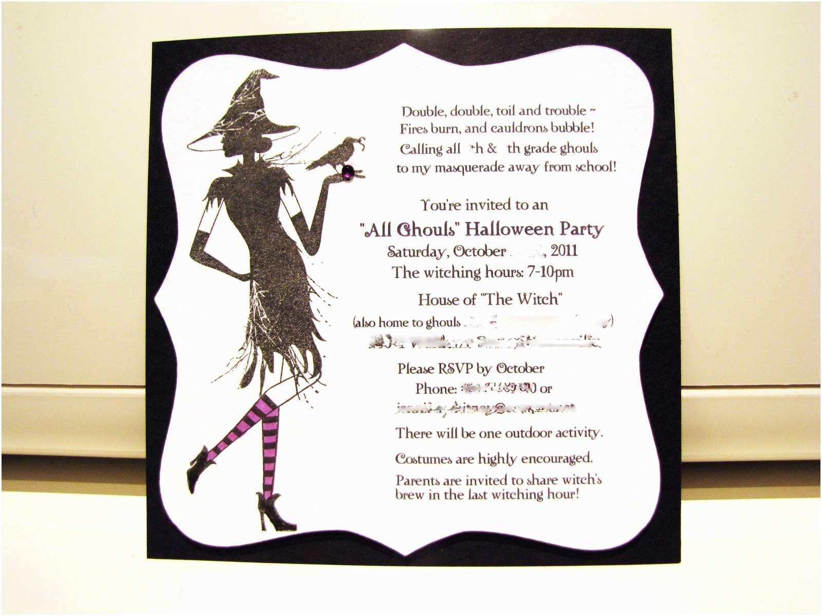 Costume Party Invitation Wording Jen S Happy Place Halloween Party 2011 the Invitation