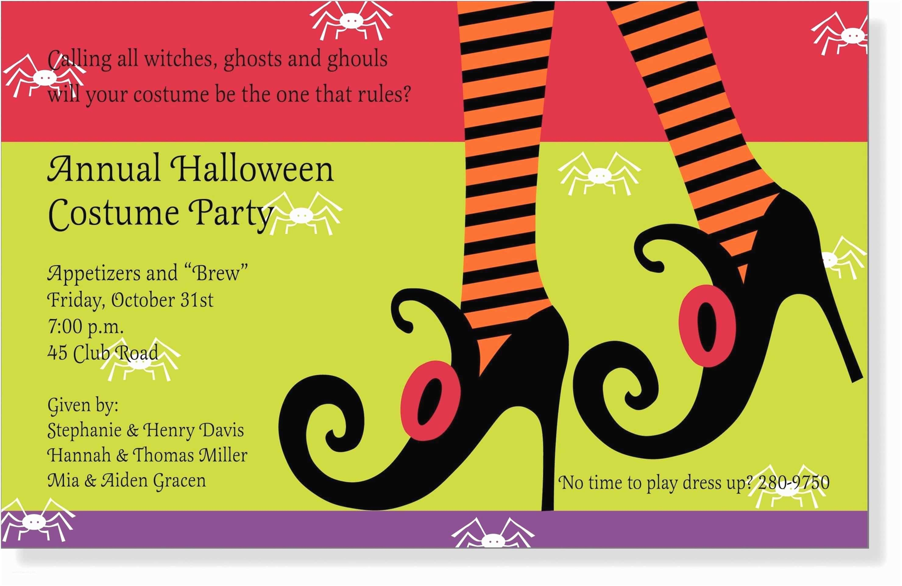Costume Party Invitation Wording Tips Easy To Create Halloween