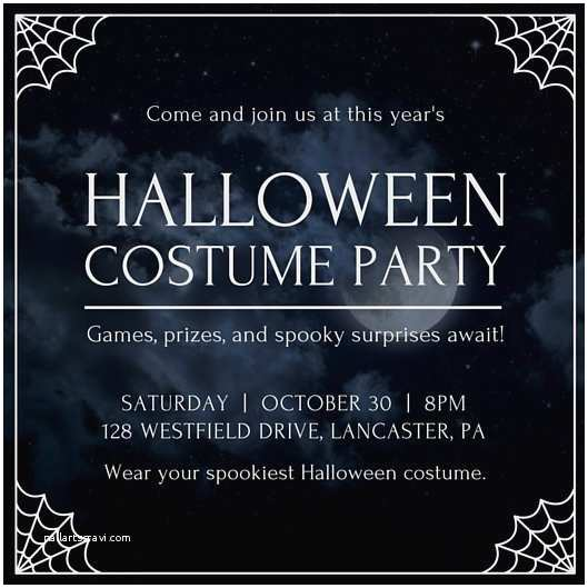 Costume Party Invitations Adult Halloween Invitation Templates By Canva