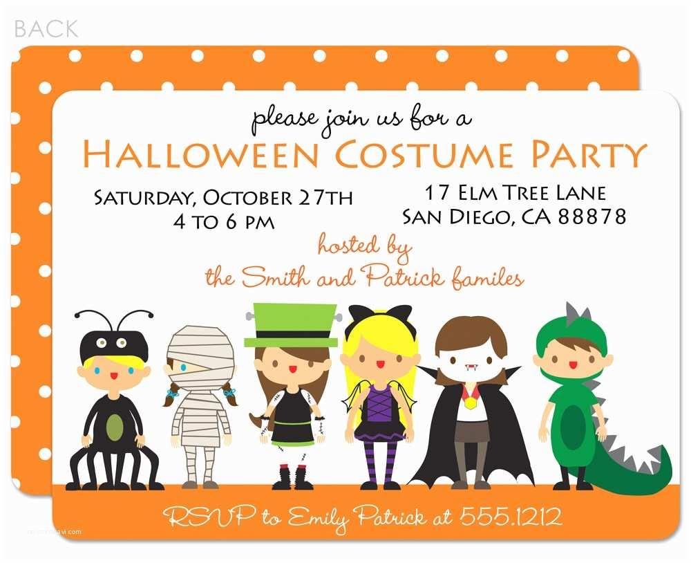 Costume Party Invitations Costumes Birthday Invitation Wording