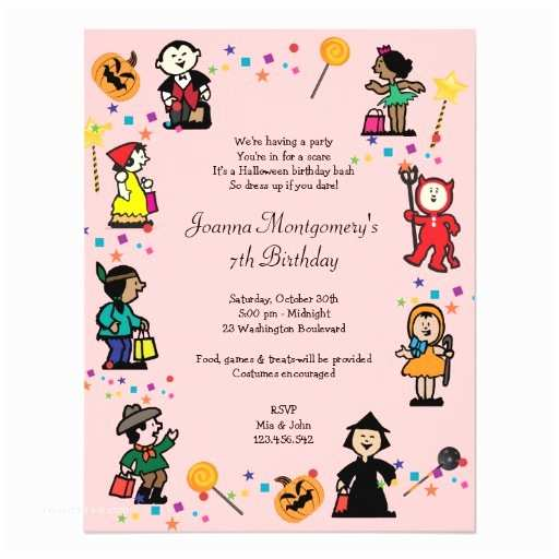 Costume Party Invitations Halloween Birthday Invitation 4 25