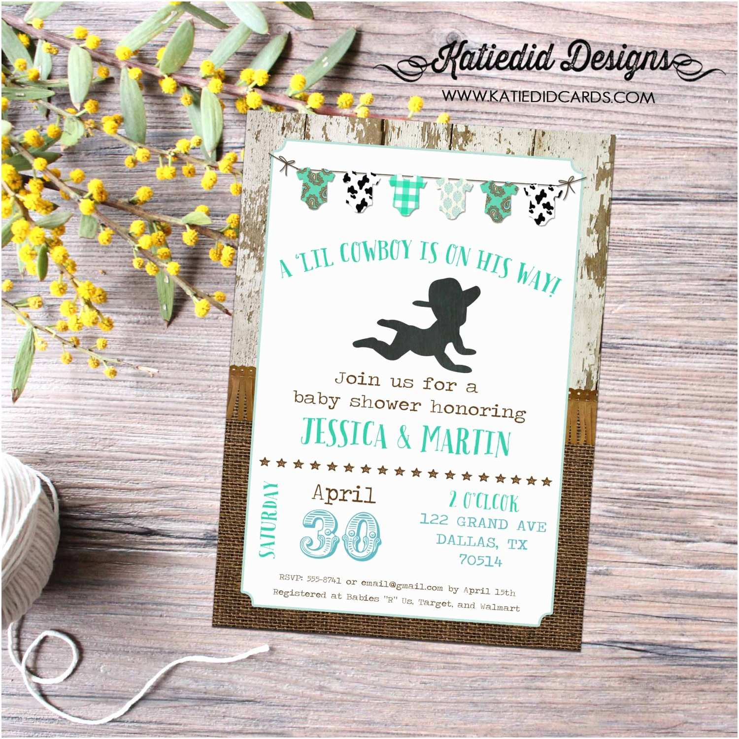 Country Baby Shower Invitations Country Baby Shower Invitations