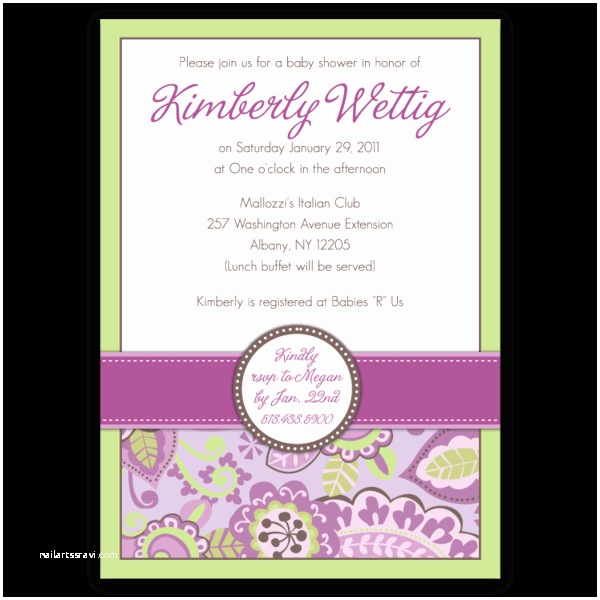 Country Baby Shower Invitations Country Club Paisley Baby Shower Invitations – Ian & Lola