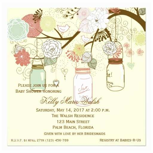 Country Baby Shower Invitations Country Rustic Mason Jar Baby Shower Invites