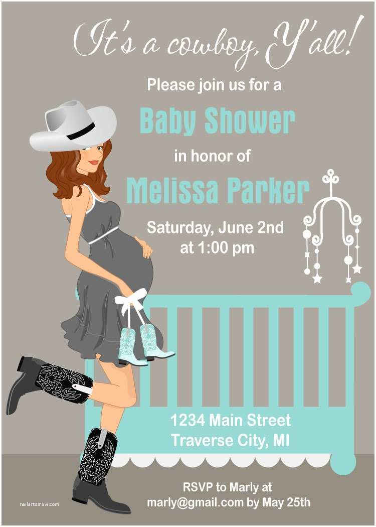 Country Baby Shower Invitations Cowboy Baby Shower Invitations Country by Announceitfavors
