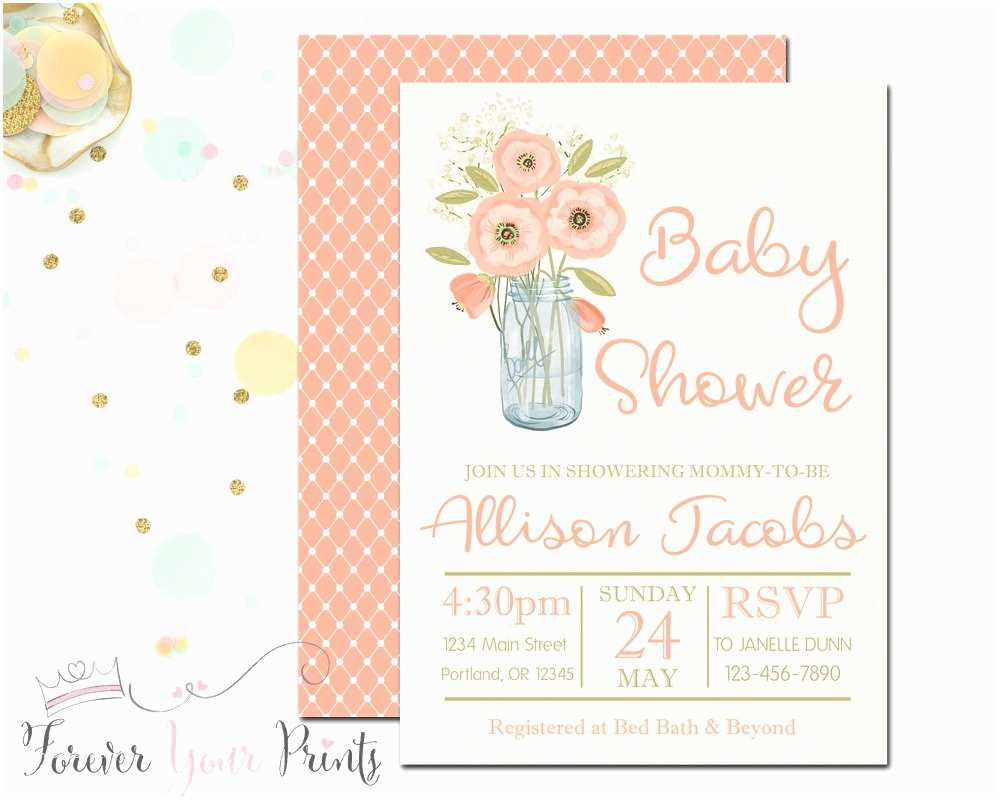 Country Baby Shower Invitations Rustic Baby Shower Invitation Country Baby by