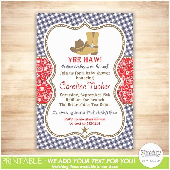 Country Baby Shower Invitations Western Baby Shower Invitations Cowboy Baby Shower